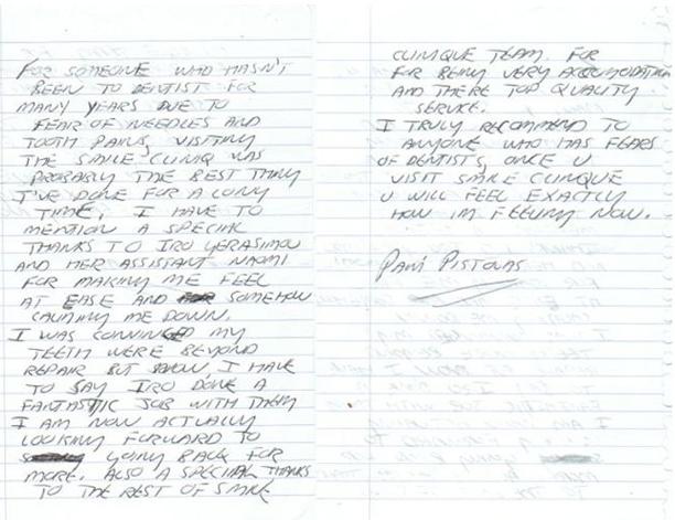 Testimonial from Pavi Pistolas