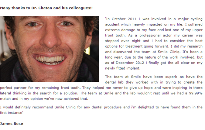 Dental Implants Testimonial