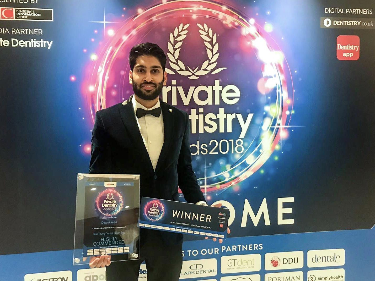 Best Young Dentist South East Winner - Dr Deepak Aulak